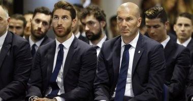 زيدان يبدأ الولاية الثانية فى ريال مدريد بمكالمة هاتفية مع راموس