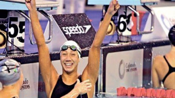 بطلة السباحة فريدة هشام: بدأت في سن الرابعة وهدفي ميدالية أوليمبية