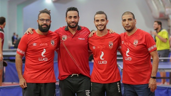 الأهلي يهزم قطر في بطولة تنس الطاولة
