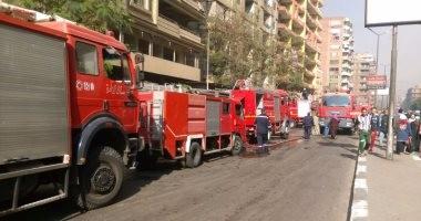 نشوب حريق هائل بموقف سيارات ملوى بالمنيا.. والحماية المدنية تحاول السيطرة