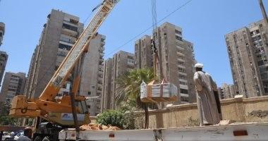 صور.. نقل تابوت الإسكندرية الأثرى إلى مقابر مصطفى كامل
