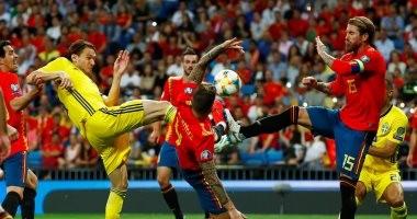 11 صورة تلخص ملحمة أسبانيا ضد السويد فى تصفيات يورو 2020