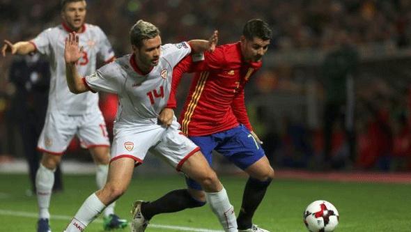 اسبانيا تسحق مقدونيا برباعية قي تصفيات المونديال