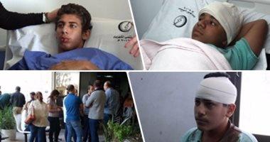 وزير الصحة يطمئن علي المصابين في حادث أتوبيس مدرسة سان جورج