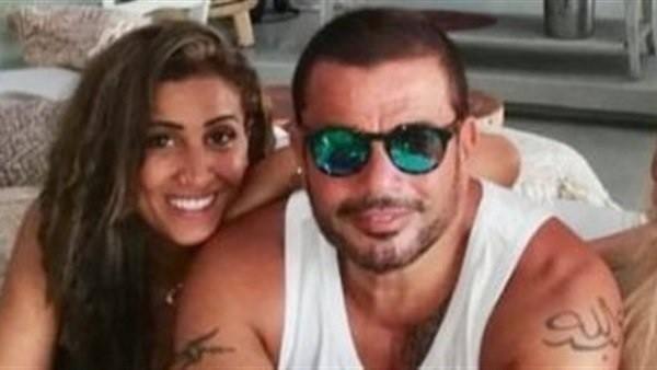 دينا الشربيني تثير الجدل حول حملها في صورة مع عمرو دياب