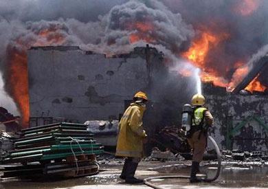 السيطرة على حريق هائل بمصنع أثاث في القليوبية