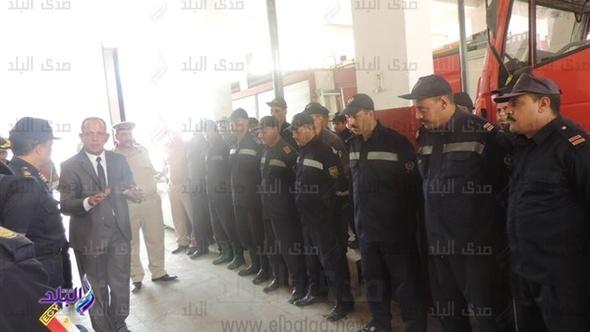مدير أمن الغربية يفاجئ قوات الحماية المدنية استعدادا لموسم الأمطار.. صور
