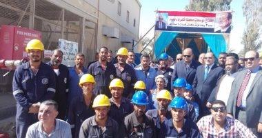 بالصور.. محافظ مطروح يفتتح توسعات محطة كهرباء سيوة
