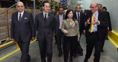 داليا خورشيد ووزير تجارة سنغافورة يفتتحان أول مركز لوجستى
