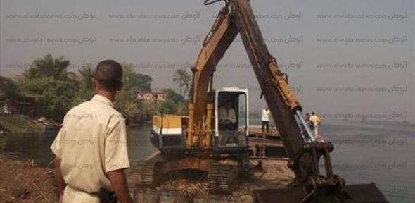 """""""الري"""" ترصد قيام نادي شرطة بني سويف بردم نهر النيل"""