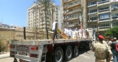 صور.. تابوت الإسكندرية فى مخازن وزارة الآثار بعد أعمال الترميم الأولى