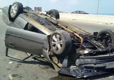 مصرع سيدة وإصابة 3 آخرين فى حادث انقلاب «تاكسي» بأسيوط