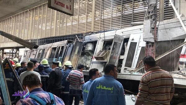 الحكومة: 80 ألف جنيه لكل حالة وفاة أو عجز كلي بحادث قطار محطة مصر