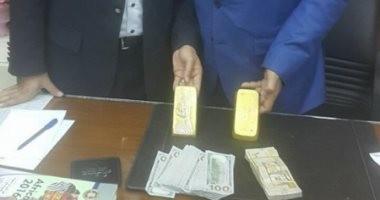 جمارك مطار القاهرة تحبط محاولة سودانى تهريب 5 كيلو ذهب بـ3.5 مليون جنيه