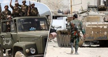 اشتباكات عنيفة بين الجيش السورى وعناصر تنظيم داعش الإرهابى فى السويداء