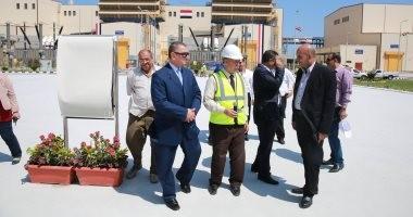 صور.. محافظ كفرالشيخ يتفقد محطة كهرباء البرلس بتكلفة 2.2 مليار يورو