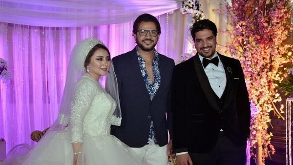 بهاء سلطان وسامو زين وموسى أبرز حضور حفل زفاف شقيق معتز أمين