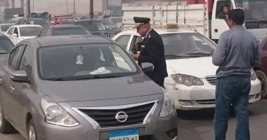النشرة المرورية.. كثافات متحركة بمعظم محاور وميادين القاهرة والجيزة