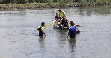 مصرع عامل غرقا إثر انقلاب دراجة بخارية بنهر النيل فى البحيرة