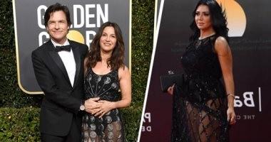 صورة.. فستان رانيا يوسف المثير للجدل فى الجولدن جلوب.. اعرف مين لبسته
