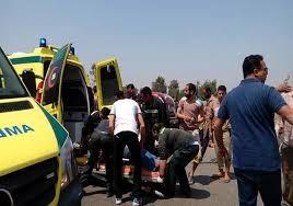إصابة 9 أشخاص في حادث تصادم 24 سيارة بـ«شبرا - بنها» الحر