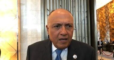 شكرى: وزراء الخارجية العرب يدعمون السلطة الفلسطينية وعملية السلام