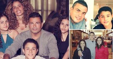 عمرو دياب يحتفل بعيد ميلاد أبنائه التوأم زينة وعبد الله: عيد سعيد لنور حياتى