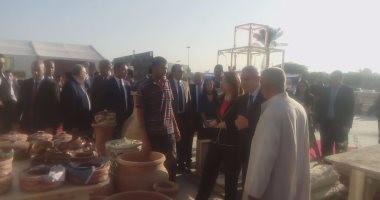 وزيرا التجارة والتضامن يفتتحان معرض الحرف اليدوية بأرض المعارض بمدينة نصر
