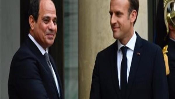ماكرون يدعو السيسي لحضور قمة مجموعة الدول الصناعية السبع الكبرى في فرنسا