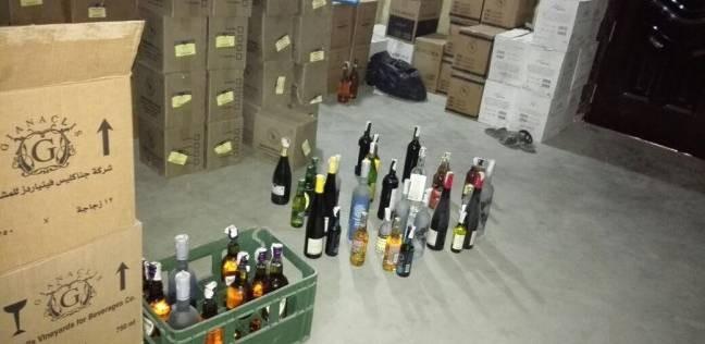 ضبط أمين مخزن بحوزته 92 ألف زجاجة خمور مجهولة المصدر بالمطرية