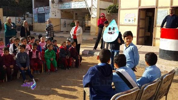 ترشيد استهلاك المياه والكهرباء في مسرحية مدرسية بالمنيا .. فيديو وصور