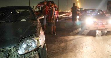 مصرع شخص وإصابة 13 فى حادث انقلاب ميكروباص بطريق السويس