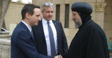 الأنبا إرميا يستقبل وزير الشؤون الخارجية والتجارة المجري بالمركز الثقافي القبطي