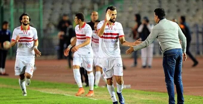 """""""عبدالعزيز"""" يسجل الهدف الأول للزمالك في مرمى بتروجت"""