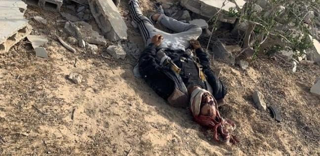 صورة  إرهابي حاول تفجير نفسه قبل مقتله بهجوم العريش