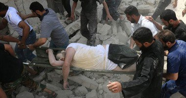 110قتلى فى الغارات الجوية على أحياء حلب الشرقية والغربية بسوريا