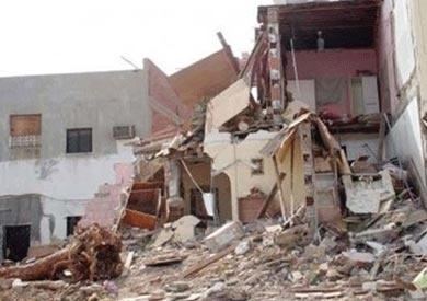 انهيار منزل من 3 طوابق بطنطا دون إصابات