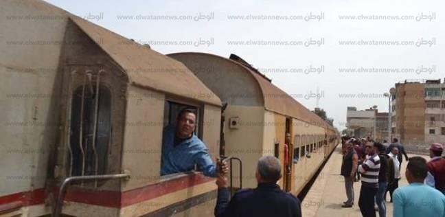 """السكة الحديد تنفي خروج قطار """"المنصورة -طنطا"""" عن مساره"""