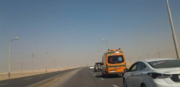 """وصول جثامين 4 من شهداء الجيش في """"كمين الغاز"""" إلى مطار أسيوط الدولي"""