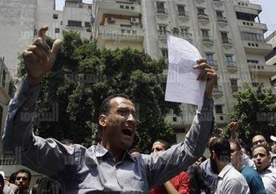 حملة الماجيستير يتظاهرون أمام مجلس الوزراء للمرة 73