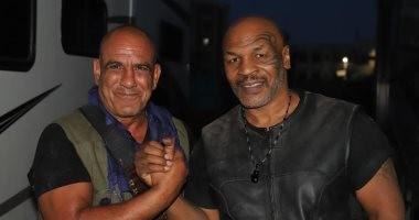 """صور.. محمد لطفى يشارك النجم العالمى مايك تايسون فى أكشن """"حملة فرعون"""""""